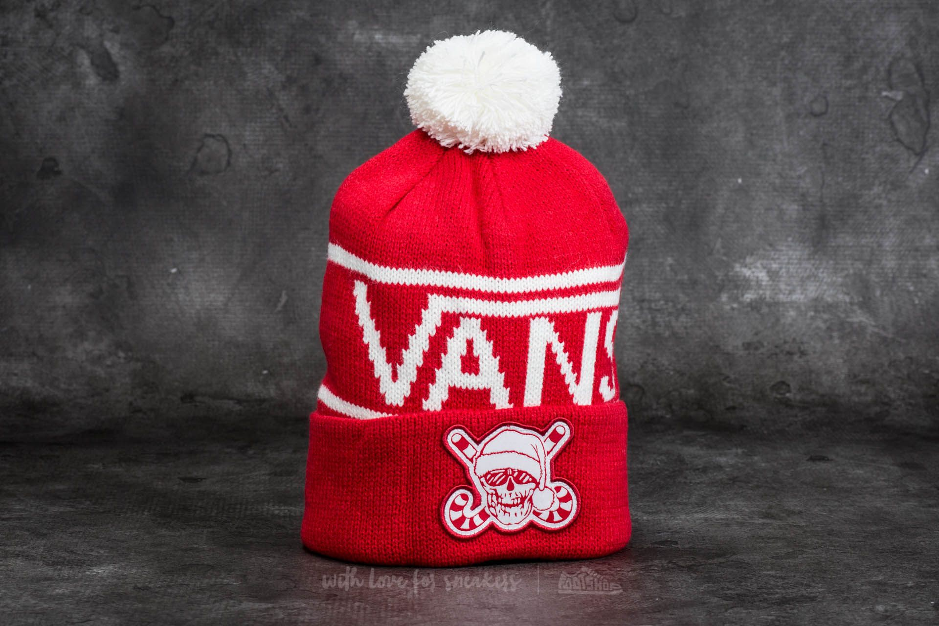 Vans Holiday Pom Beanie Racing Red  722dc899d1ed