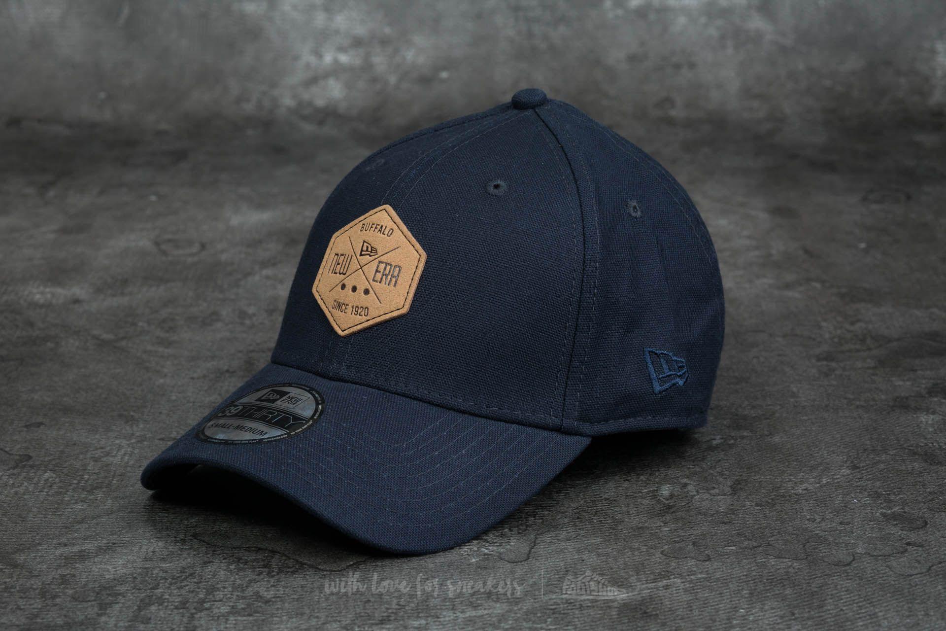 New Era 39Thirty Stretch Hex Canvas Cap Navy  861ff8dd993