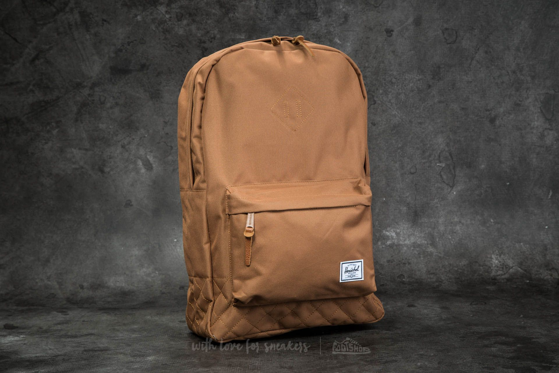 1ed79bf0493 Herschel Supply Co. Heritage Backpack Caramel Quilted