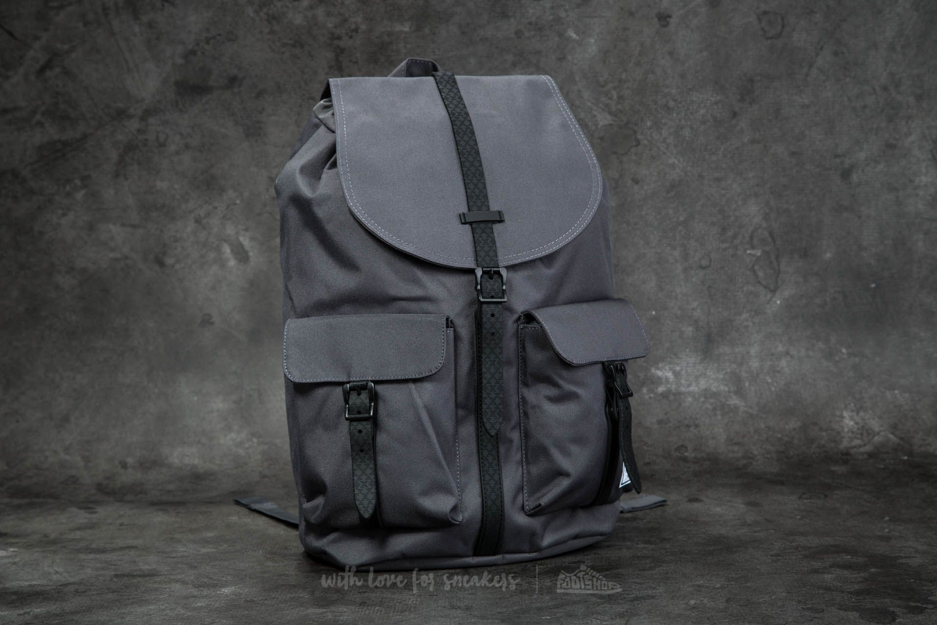 Herschel Supply Co. Dawson Backpack Charcoal  Black Native Rubber b3e8dbfecdb95