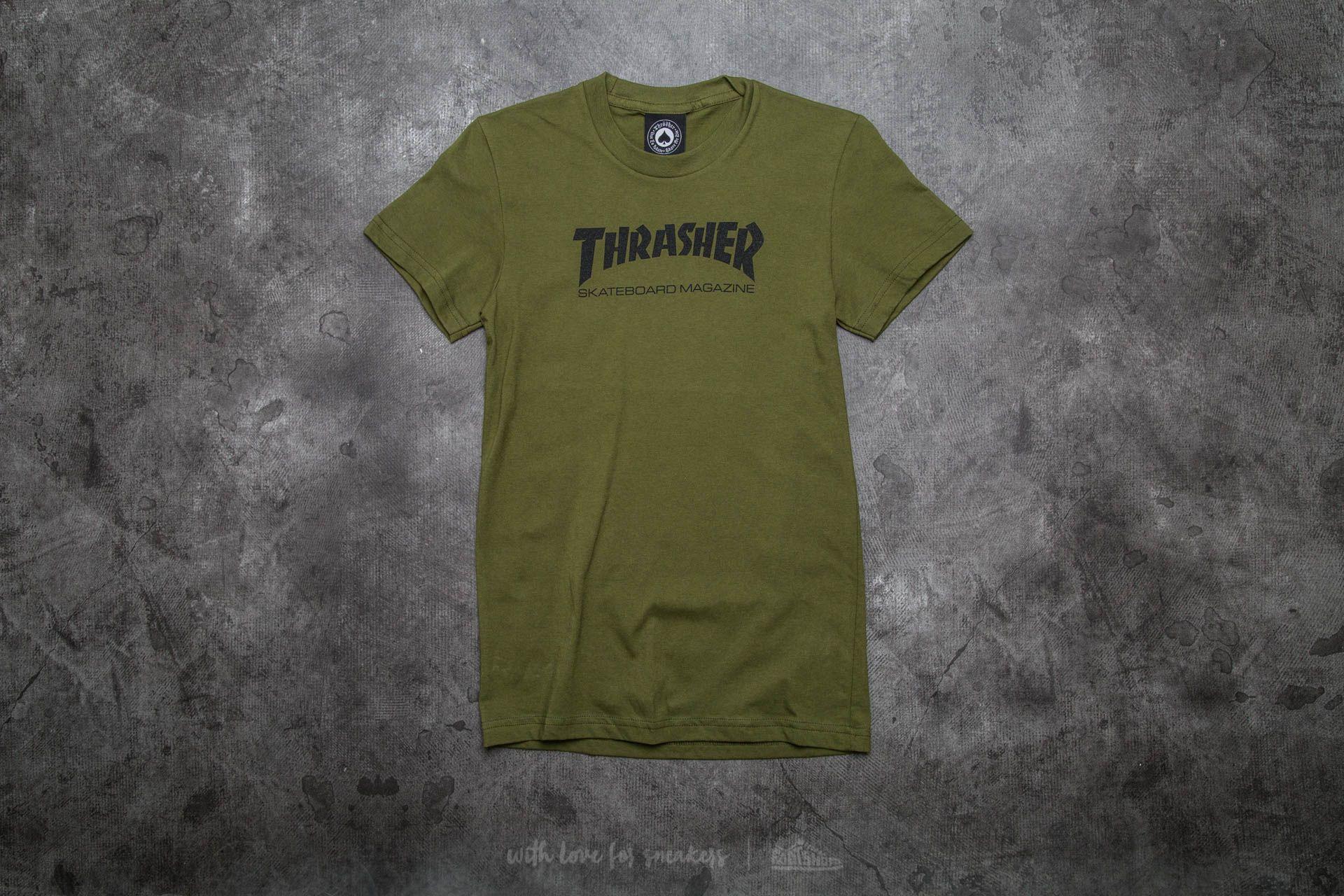 fb73b769de8a Thrasher Mag Logo Shortsleeve Girls T-Shirt Olive Green | Footshop