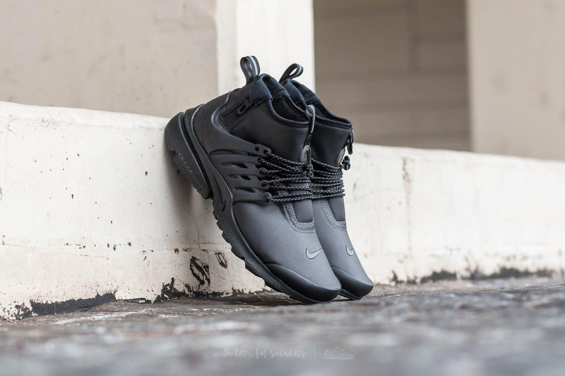 fad33ae12f4a Nike Air Presto MID Utility Black  Black-Volt-Dark Grey