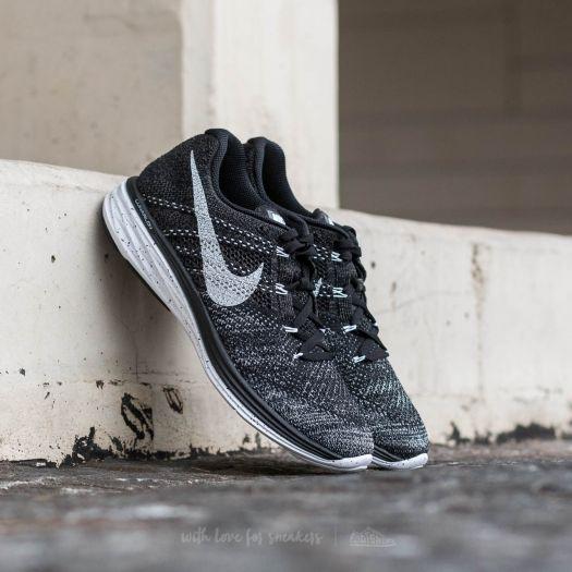 size 40 12177 f629a Nike Flyknit Lunar 3 Black/ White-Mid Fog- Wolf Grey | Footshop