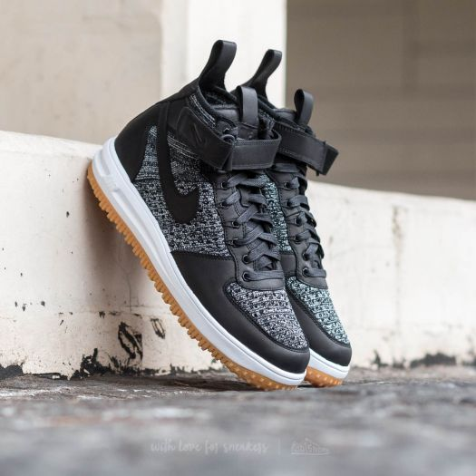 Nike Lunar Force 1 Flyknit Workboot Black White Wolf Grey | Footshop