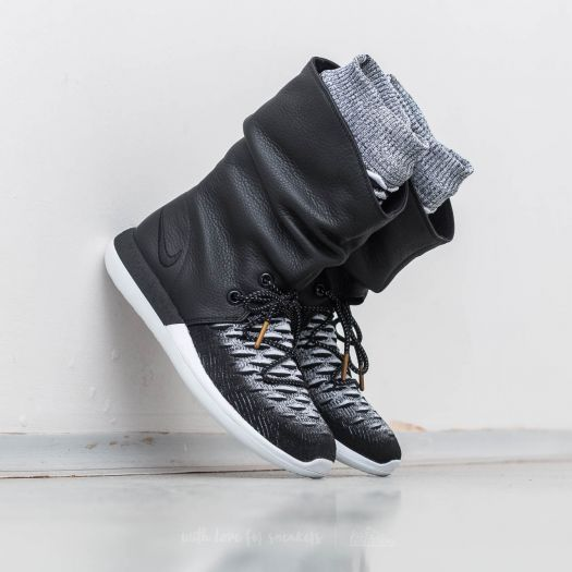 Nike W Roshe Two Hi Flyknit Black Black White | Footshop