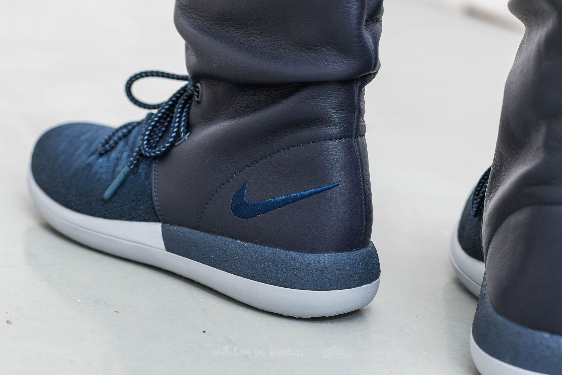 release date: e7ebc 91c81 Nike W Roshe Two Hi Flyknit College Navy/ College Navy ...