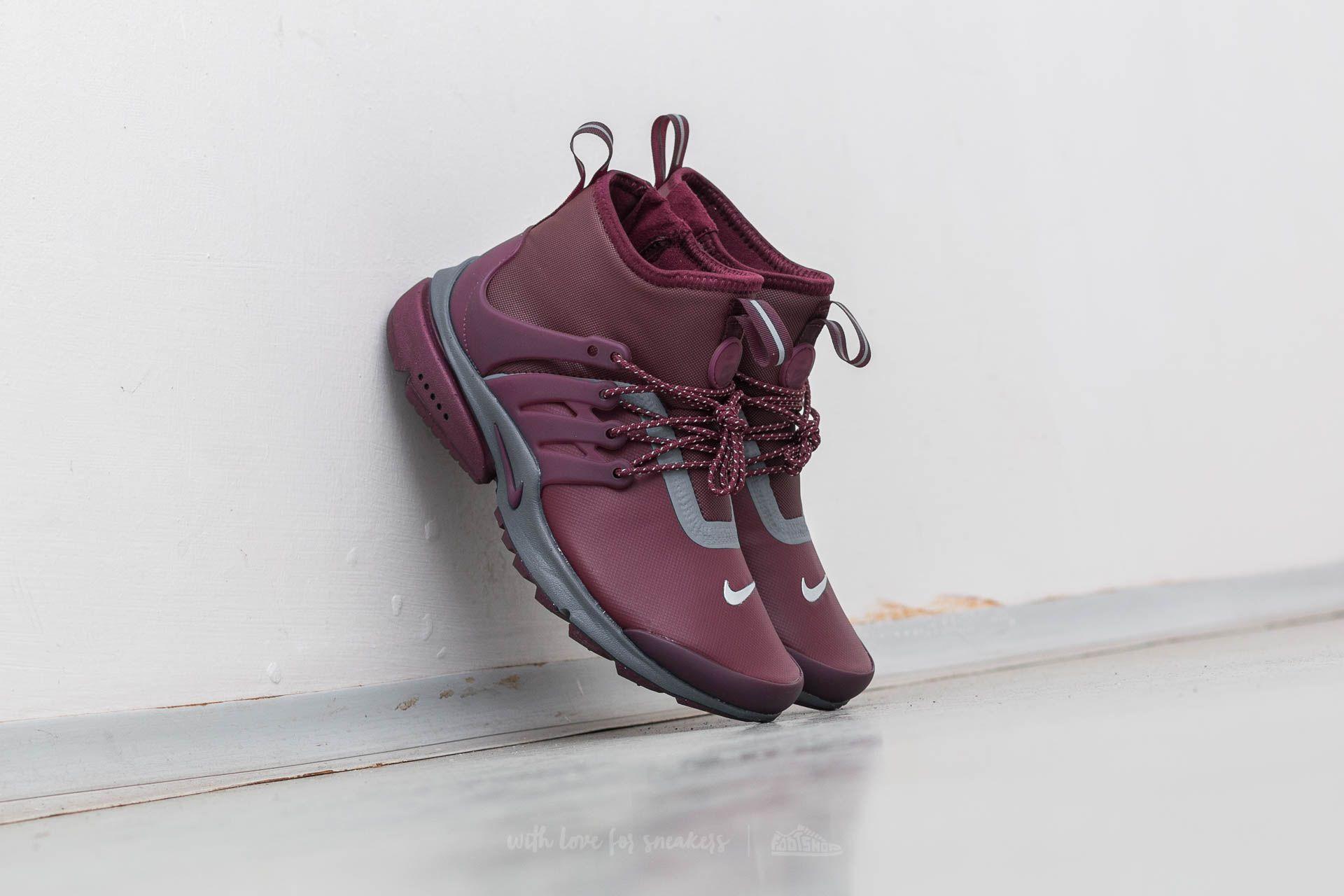 f5b98ba63cbe Nike W Air Presto MID Utility Night Maroon  Night Maroon