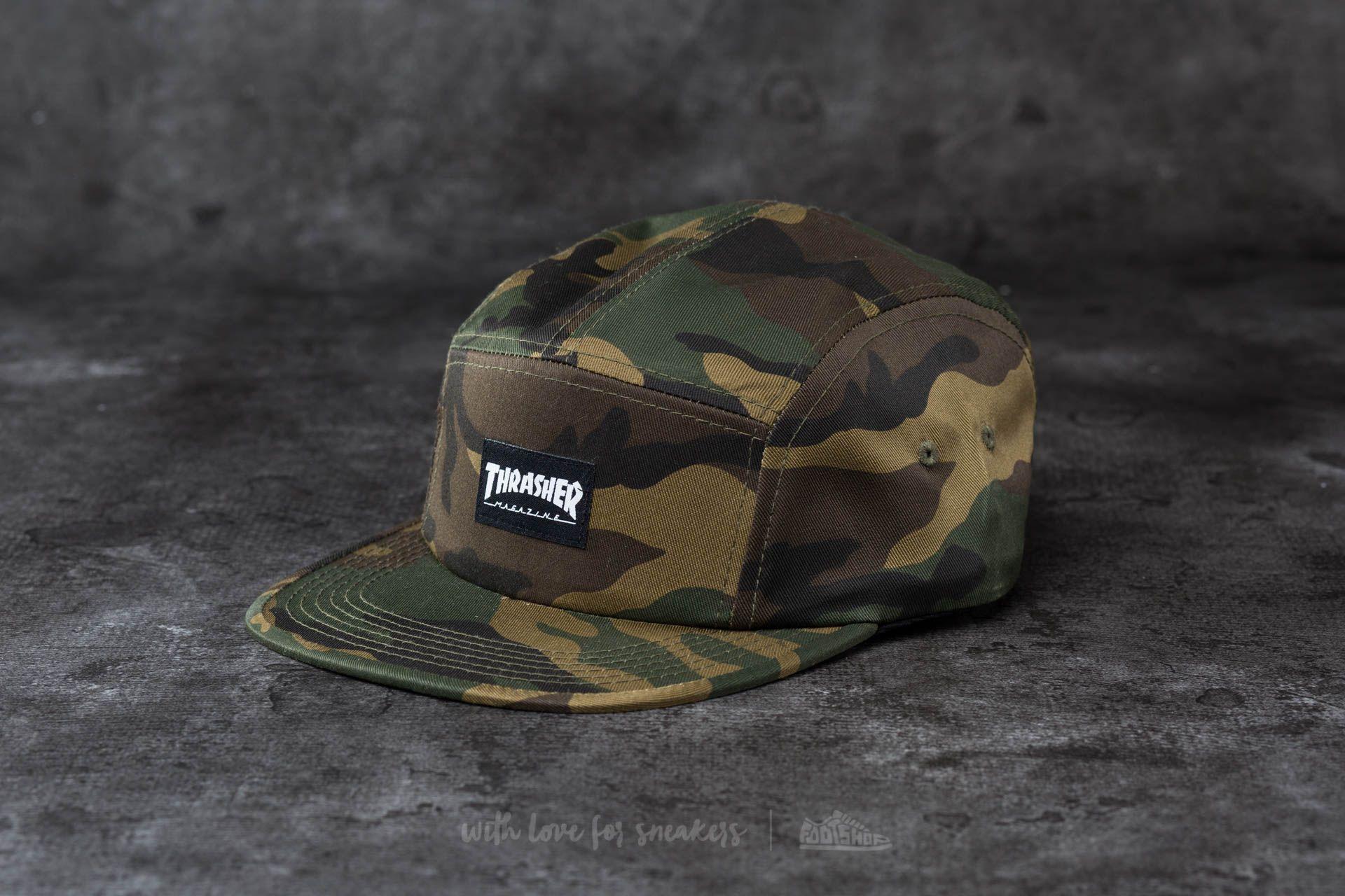 Thrasher 5 Panel Hat Camo  29499b2c677