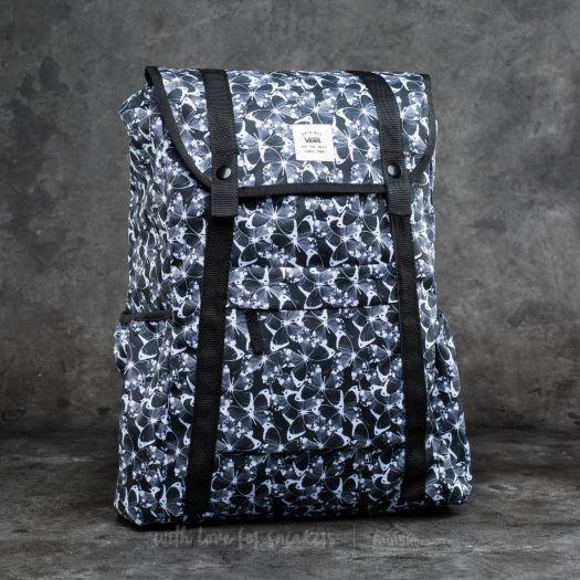 80423f7cafafd Vans Caravaner Backpack Butterfly Grey  Black  White