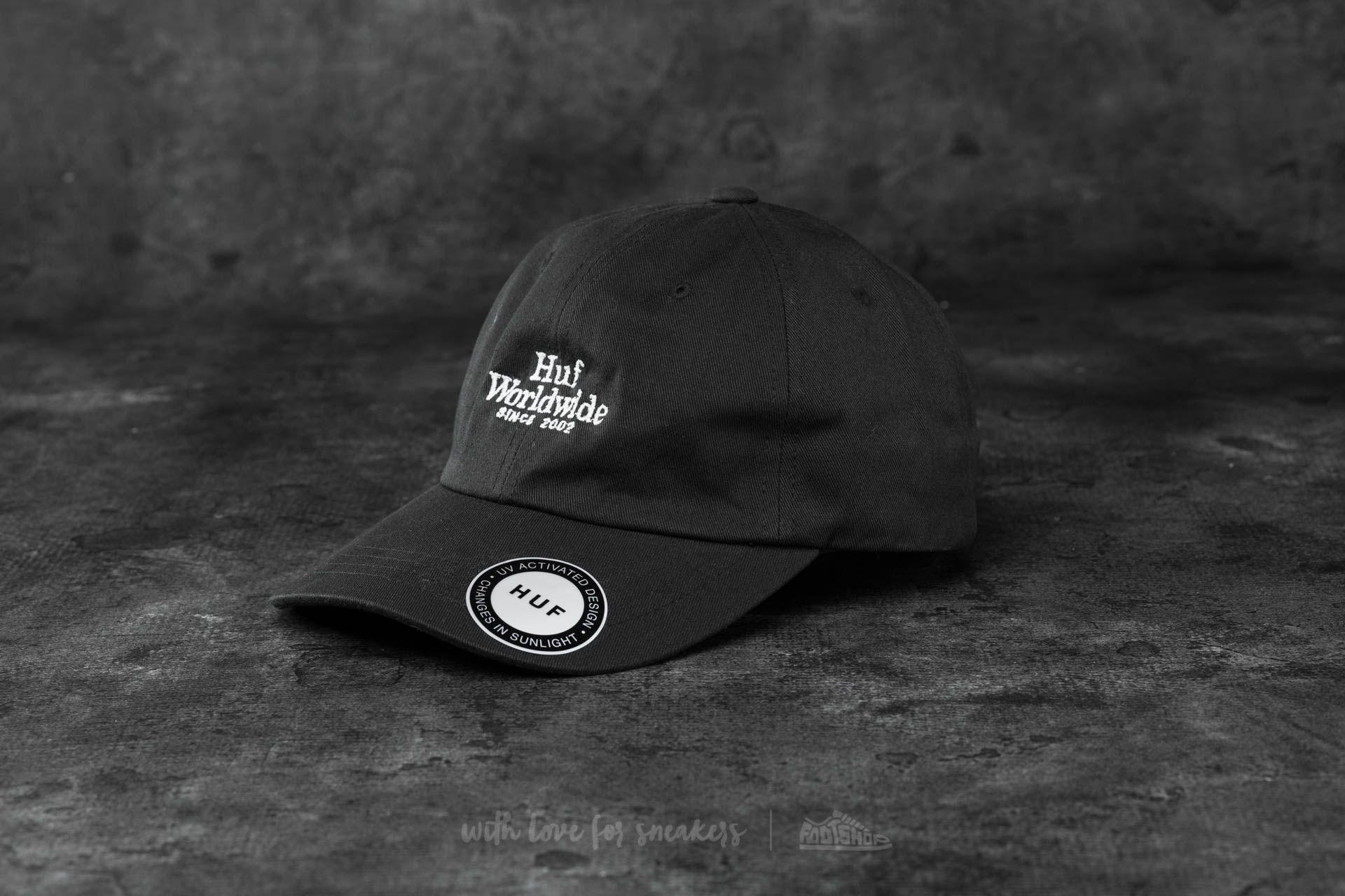 056910e6074 HUF Apparel Worldwide UV Curved Brim Hat Black