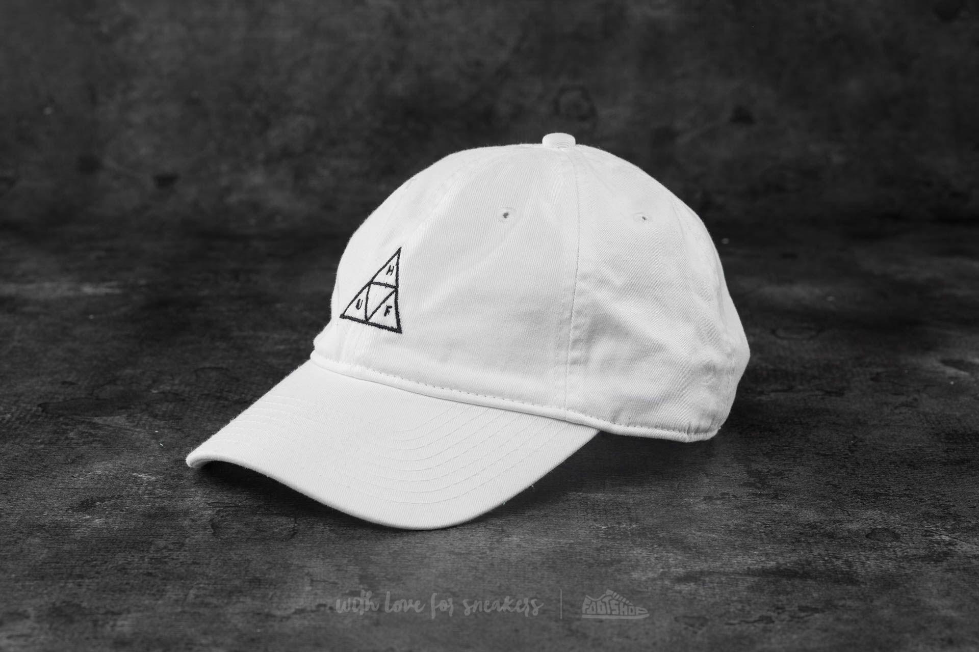 8f4a4ca67c8e4 HUF Apparel Triple Triangle Curved Brim Cap White