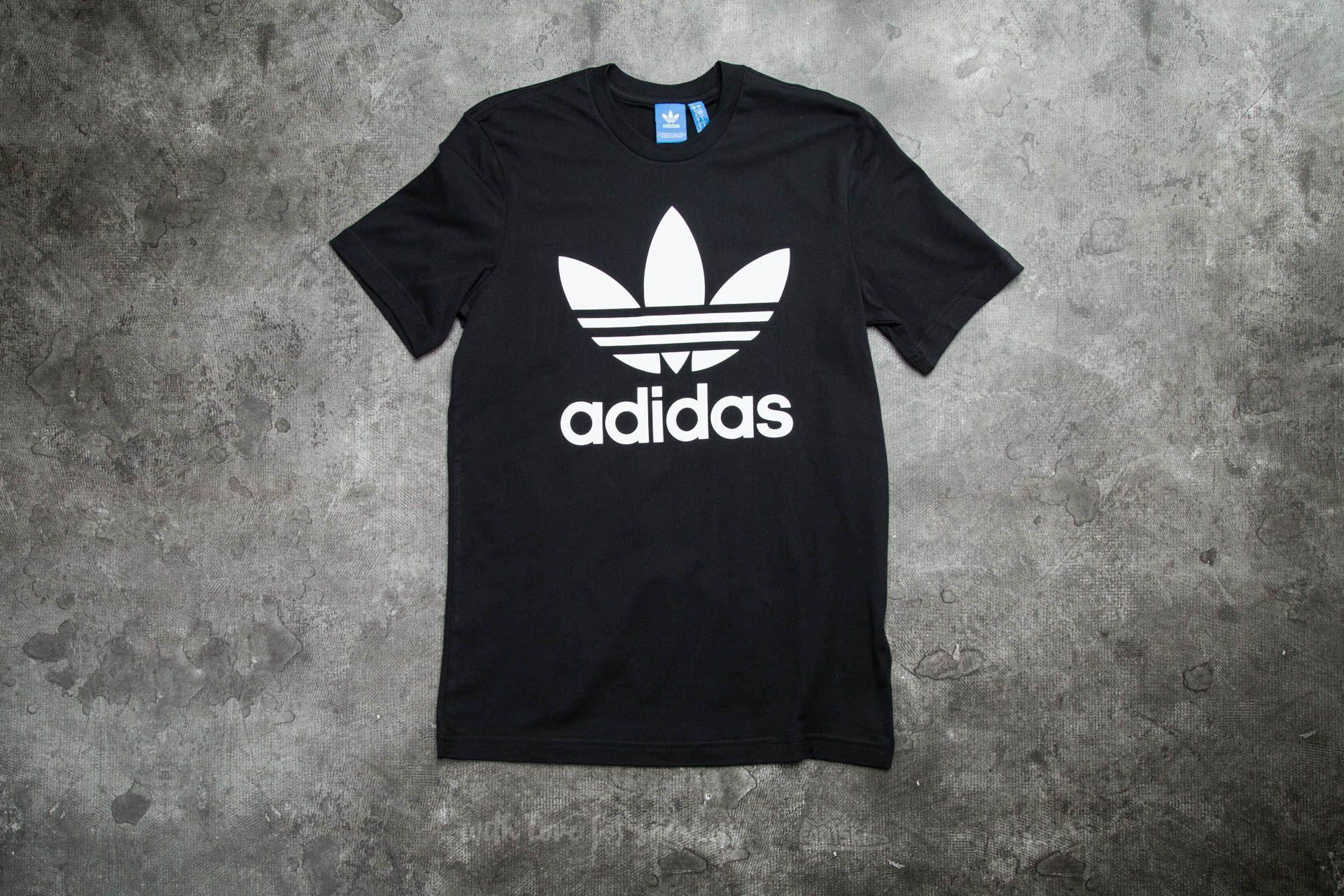 7b91f2451af adidas Originals Trefoil Tee Black | Footshop