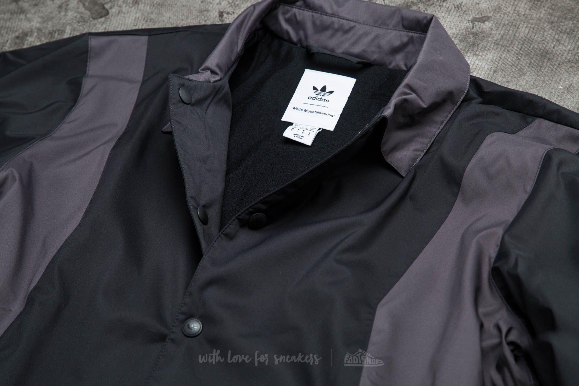 adidas x White Mountaineering Long Bench Jacket Black | Footshop