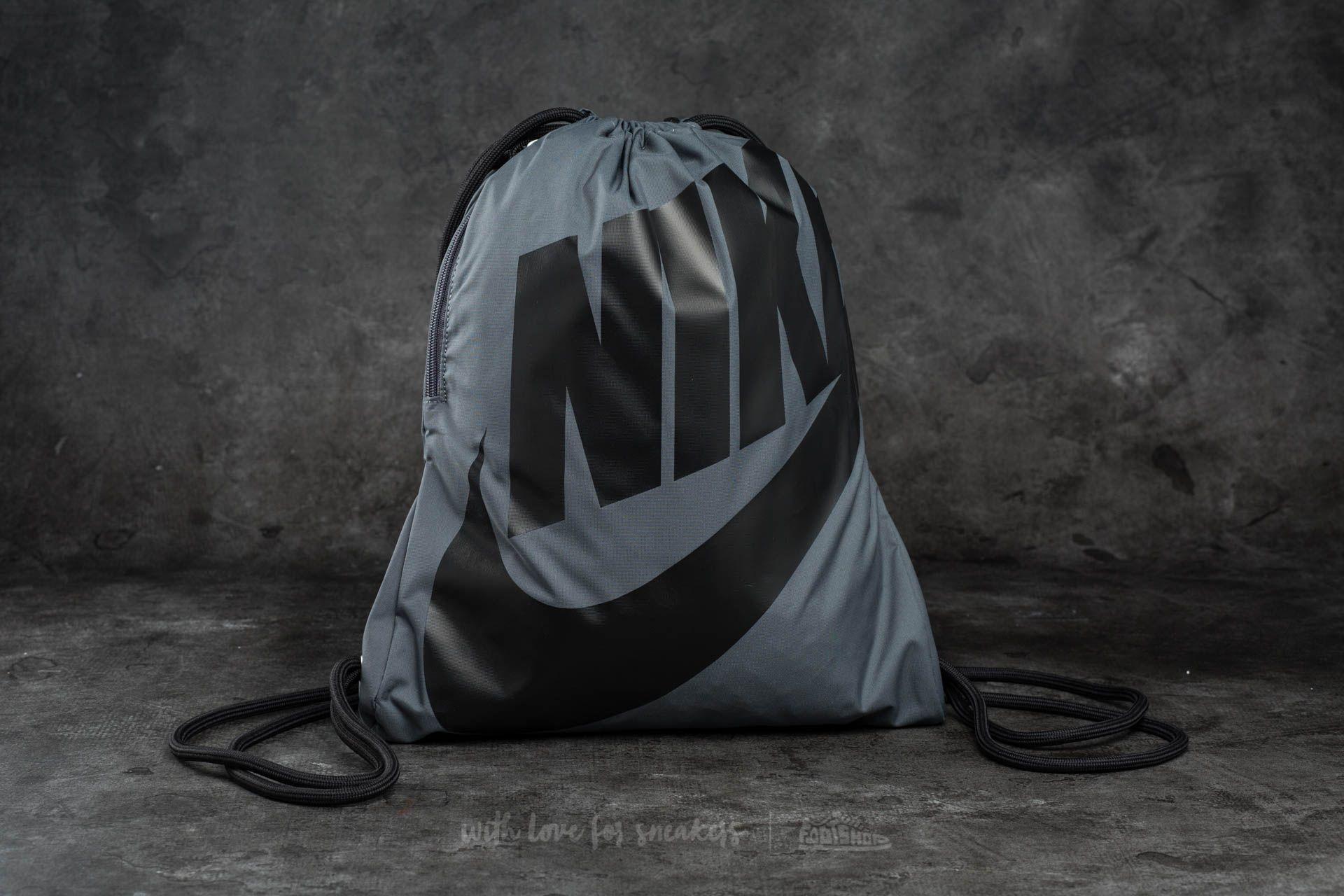 Nike Sportswear Heritage Gymsack Grey/ Black/ Black