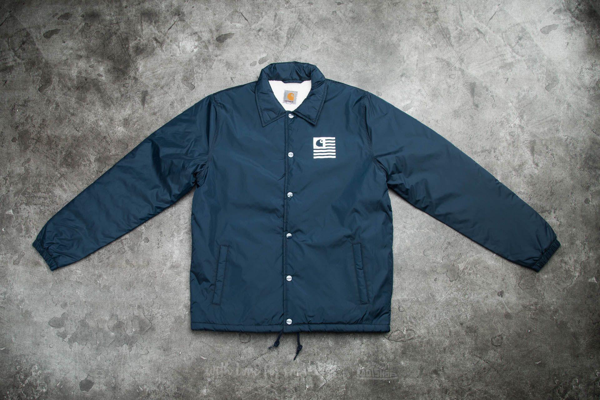4e6a0258 Carharrt WIP State Pile Coach Jacket Navy | Footshop