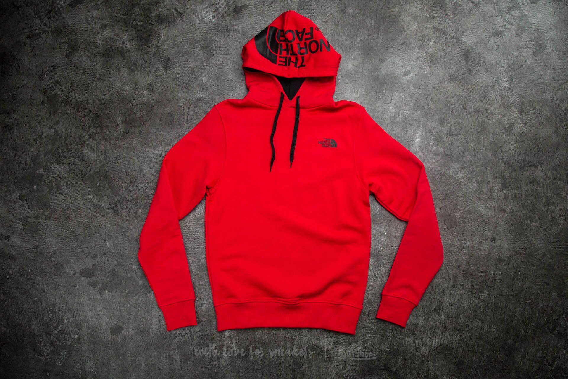 The North Face M Seasonal Drew Peak Pullover Hoodie Tnf Red ... b6fd11696