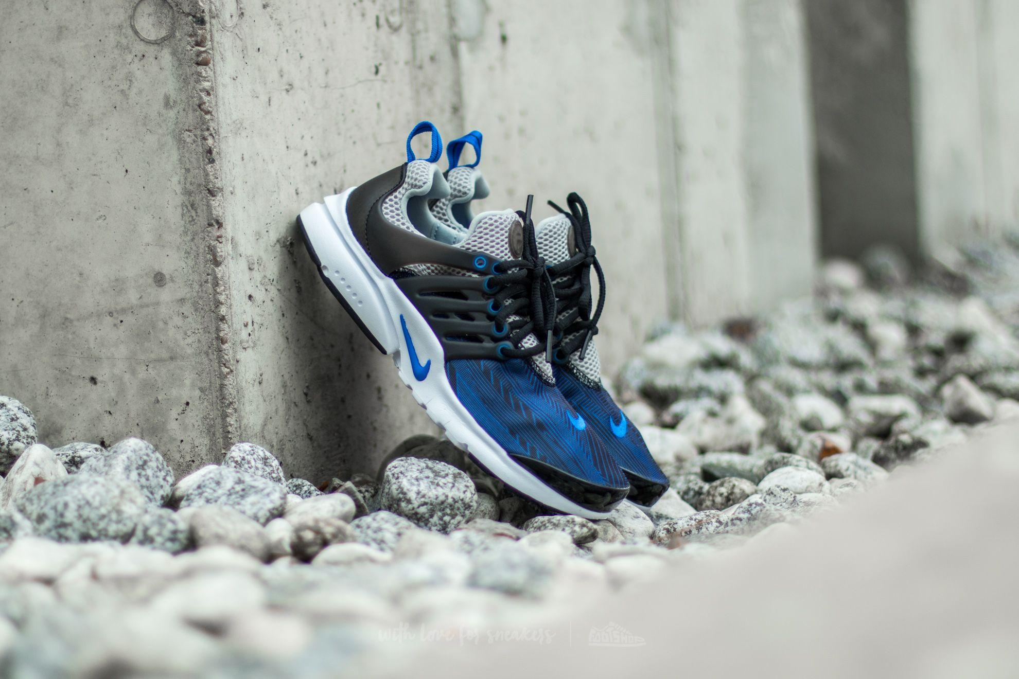 2905cac1bedc Nike Presto Print (GS) Black  Hyper Cobalt-Metallic Silver