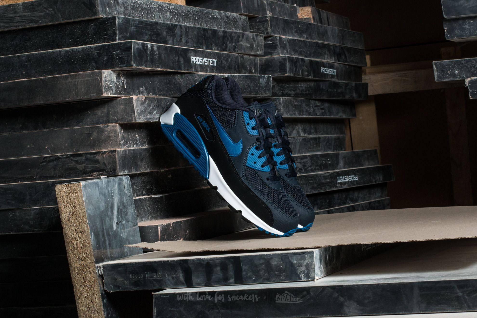 new product f7242 75143 Nike Air Max 90 Essential. Dark Obsidian  Court Blue-Black
