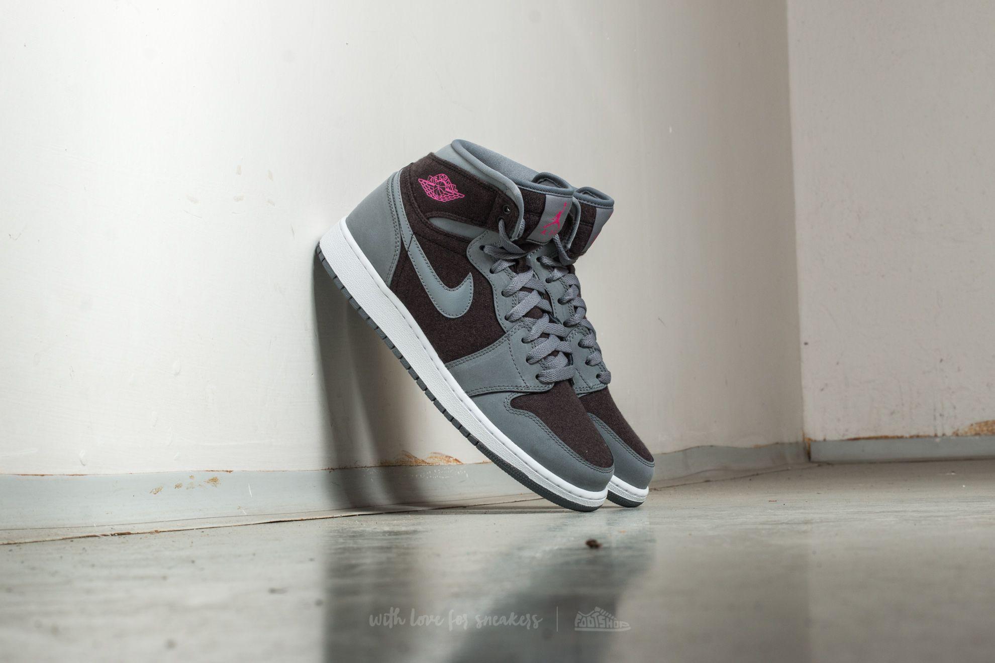 067947503045 Air Jordan 1 Retro High (GG) Cool Grey  Vivid Pink-Black