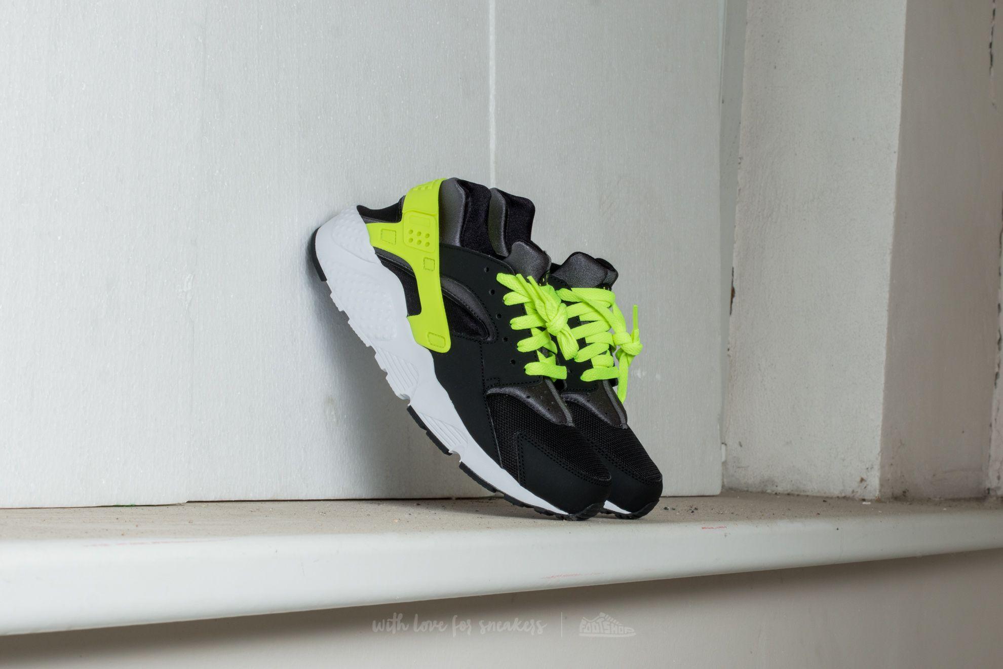 timeless design c0de1 2d67e Nike Huarache Run (GS) Black/ Volt-Dark Grey-White | Footshop