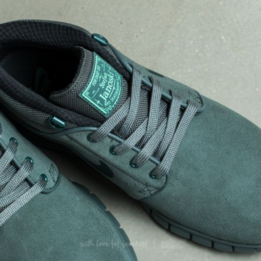 Nike Stefan Janoski Max Mid LeatherHasta Seaweed Green Glow