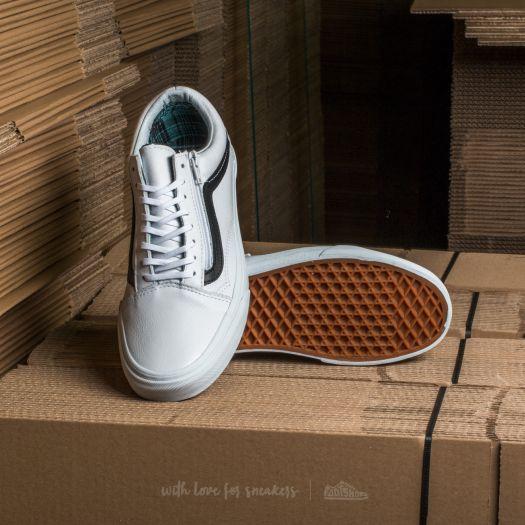 Vans Old Skool Zip (Plaid Flannel) Aqua Sea True White | Footshop