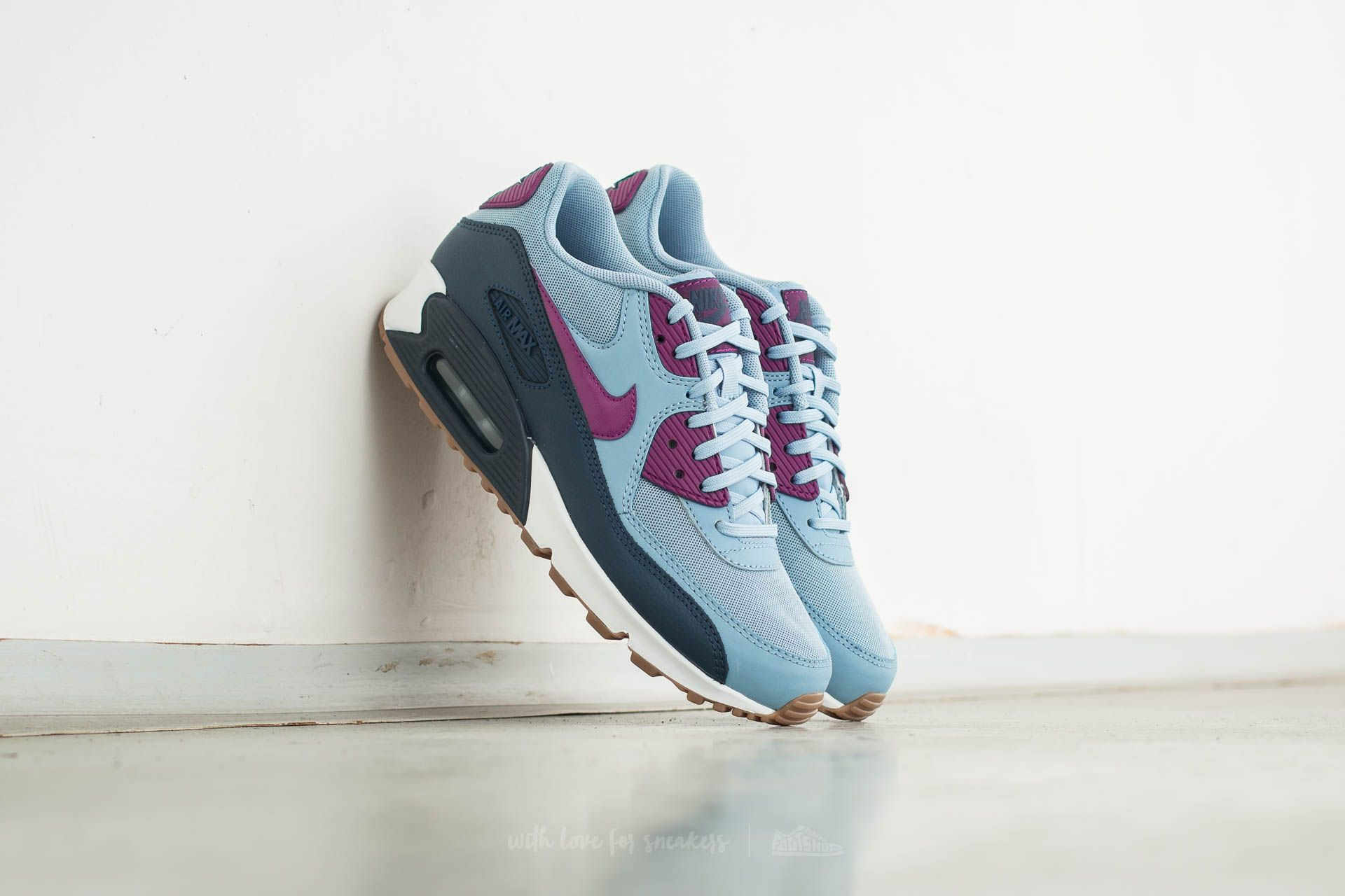 half off 4da82 c486c ... sale nike wmns air max 90 essential blue grey bright grape 7d843 3be97