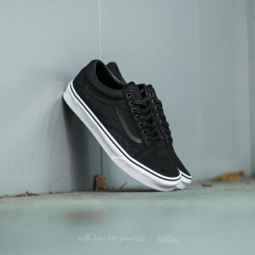 Vans Old Skool (Premium Leather) Black True White | Footshop