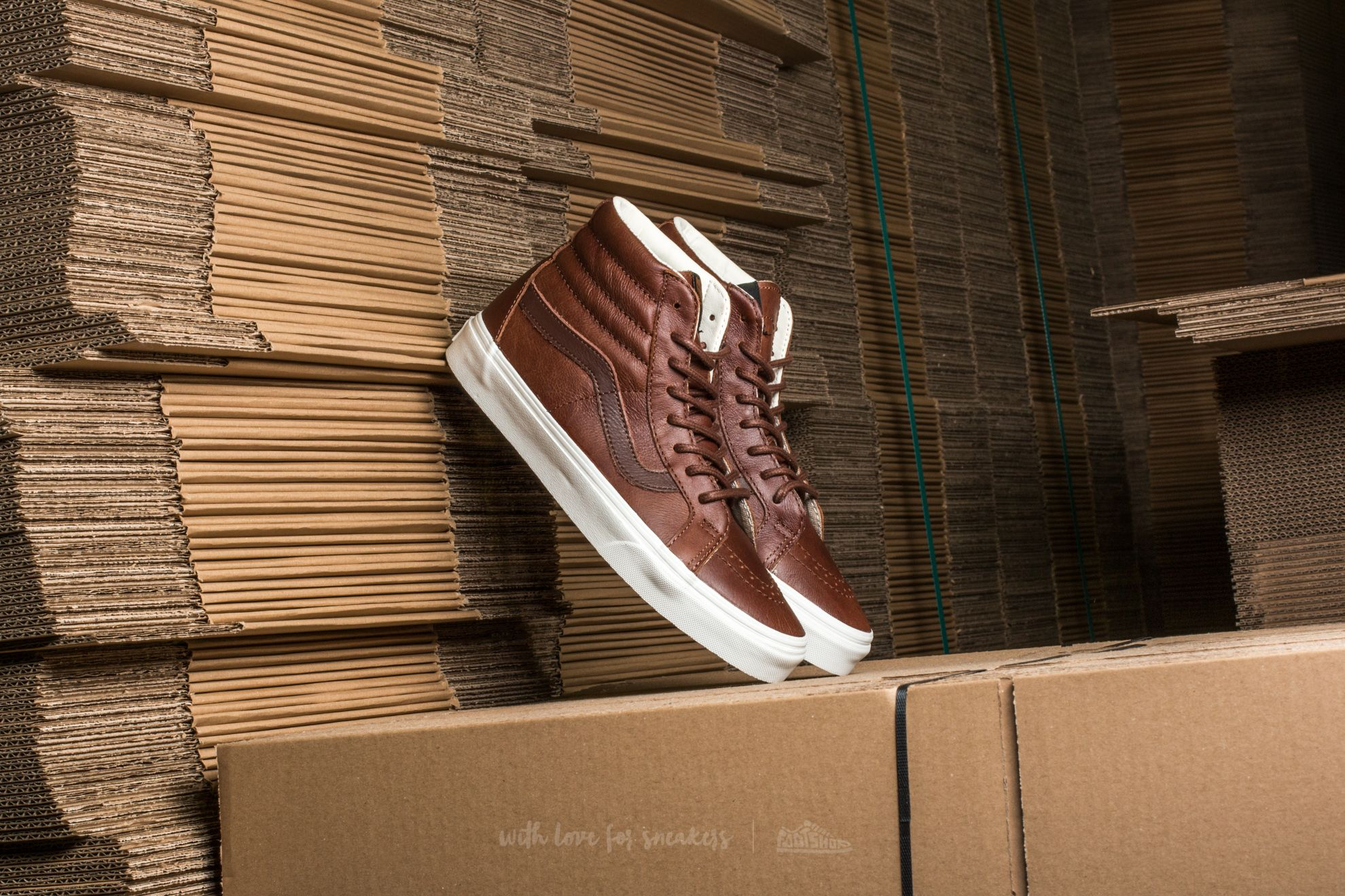 Vans SK8-Hi Reissue Leather Dachshund  Potting Soil  e97740a95e2b