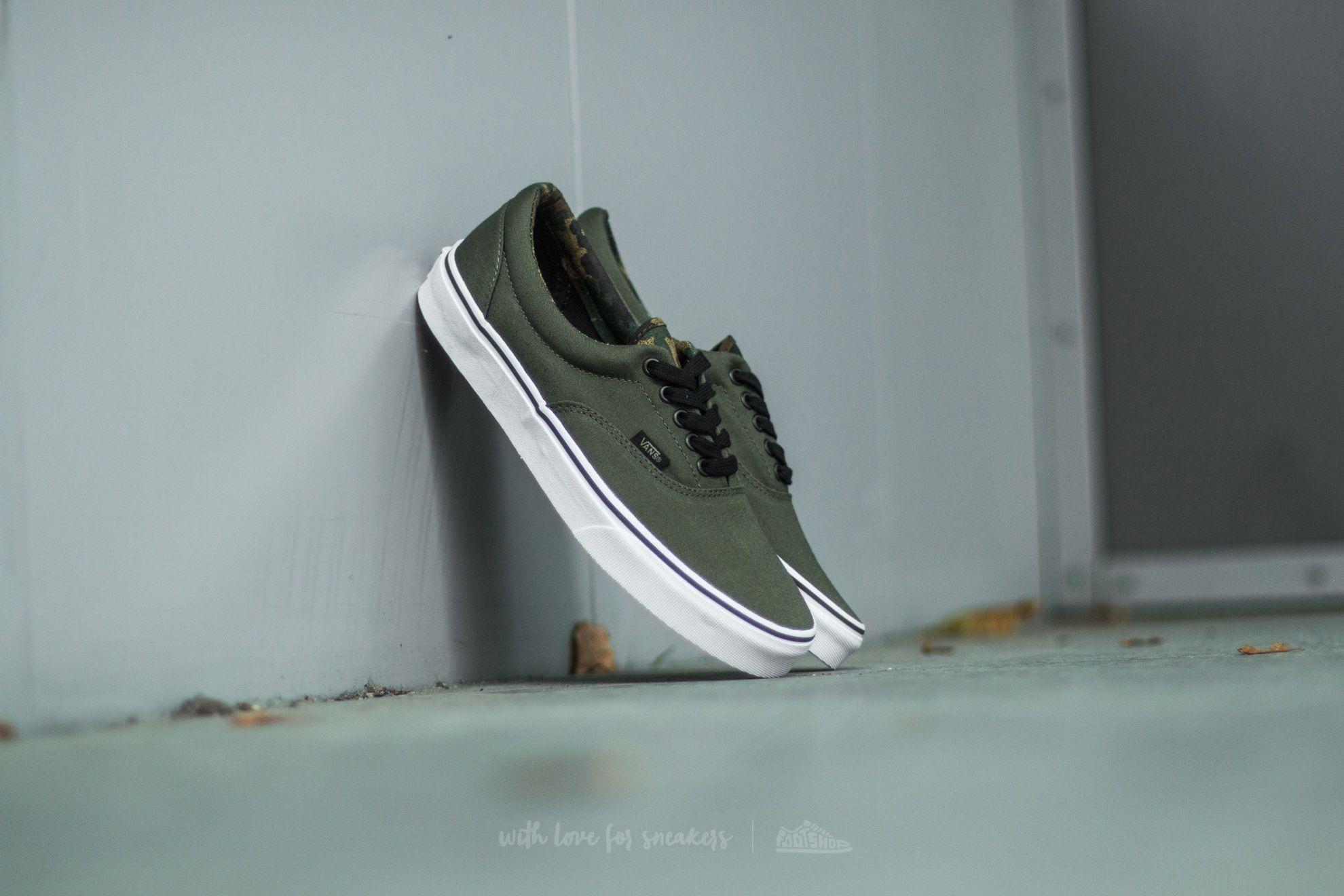 16dddc44c85073 Vans Era (Vintage Camo) Ivy Green  Black