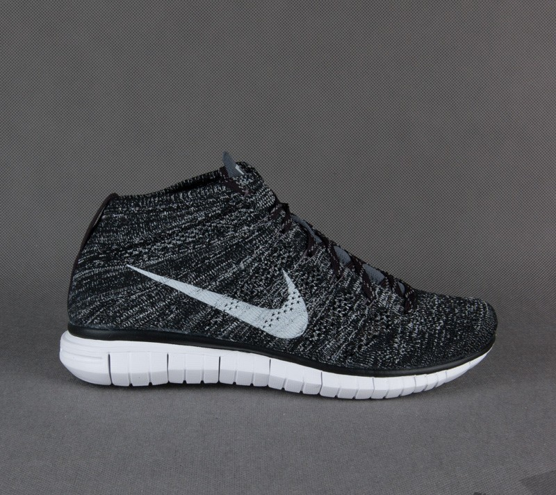reputable site 653f4 2a451 Nike Free Flyknit Chukka Black Pure Platinum