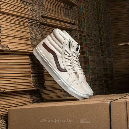 Vans Sk8-Hi Reissue (Leather) Blanc De Blanc/ Potting Soil | Footshop