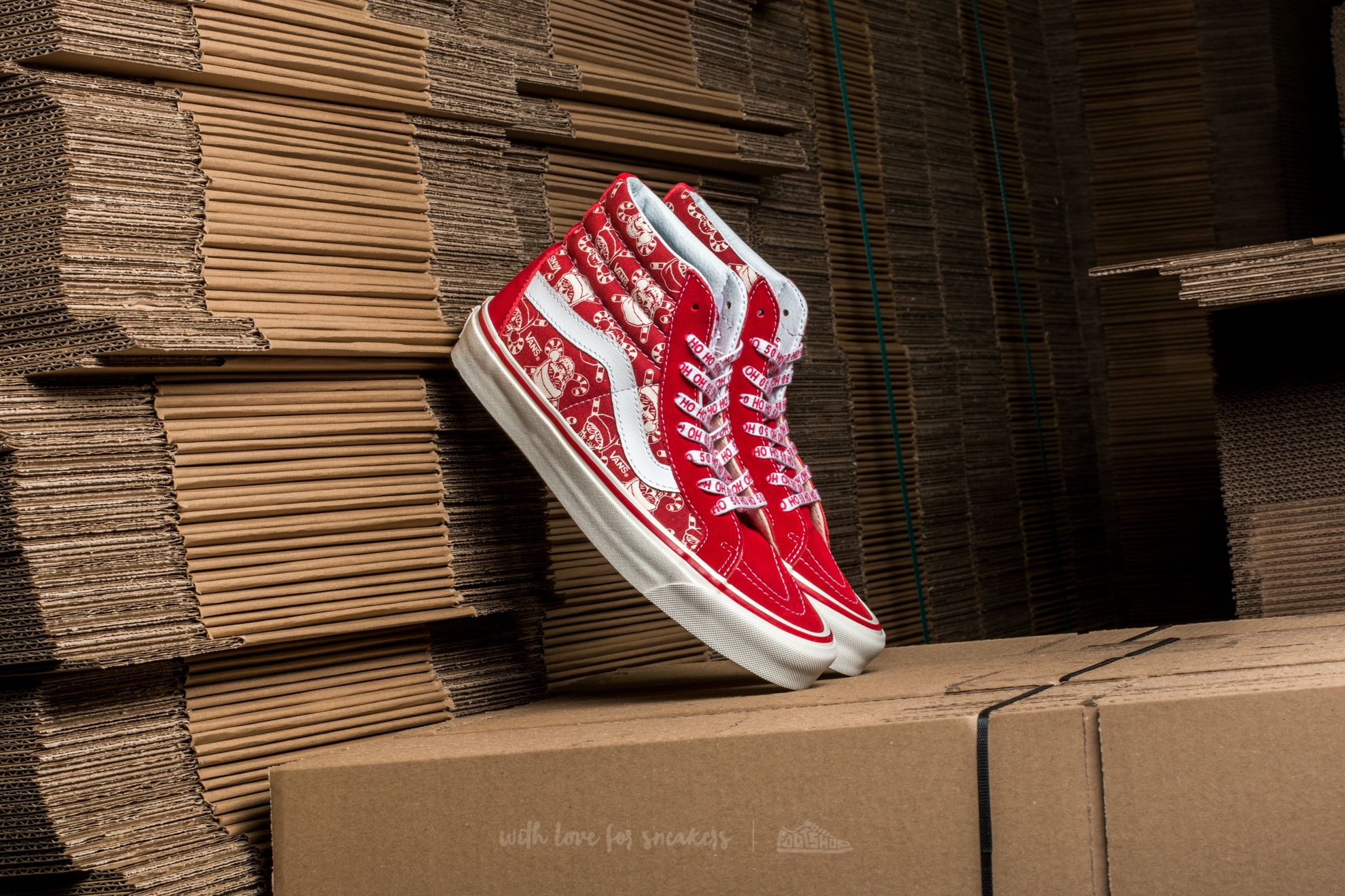 60f7de59eb Vans SK8-HI 38 Reissue (50Th) Stv  Pirate Santa  Red