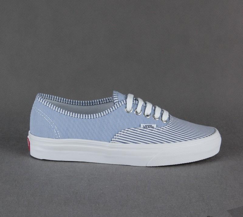 be323707324b Vans Authentic Multi Stripe Dress Blues True White Foot