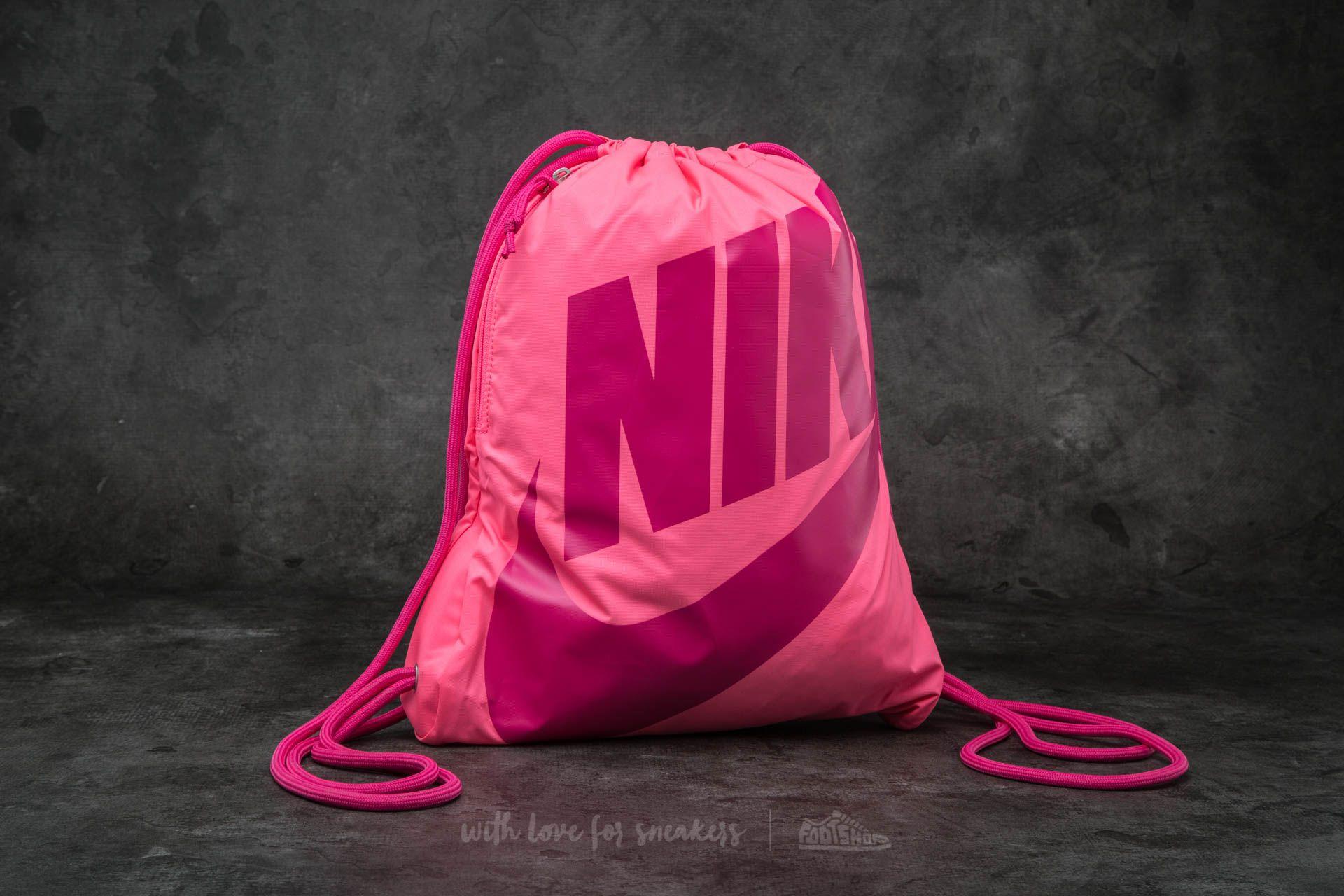Nike Heritage Gymsack Digital Pink  Vivid Pink  Vivid   Footshop 6fff495edc
