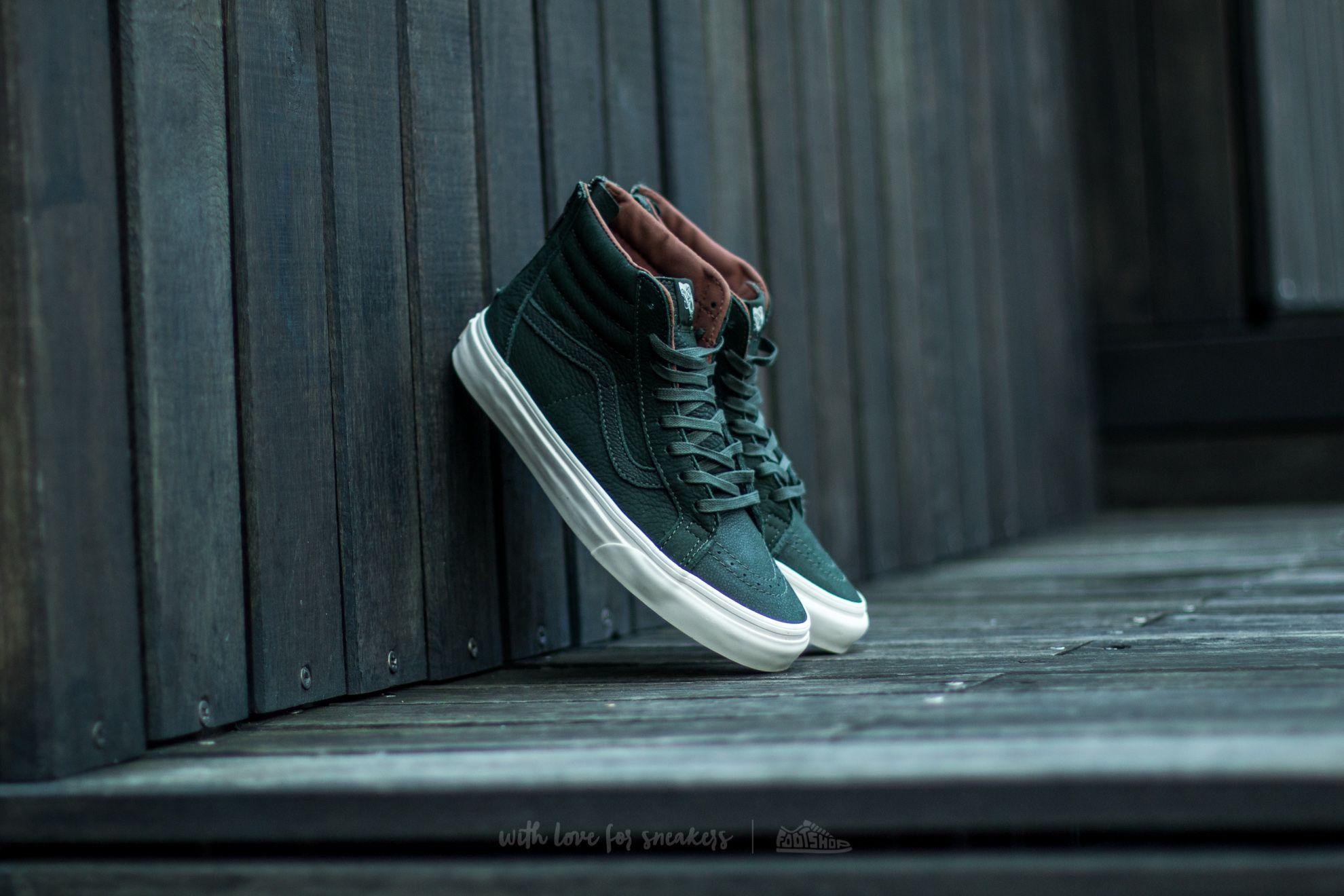 4799c84f9cff57 Vans SK8-HI Reissue Zip Premium Leather DufflBag Green