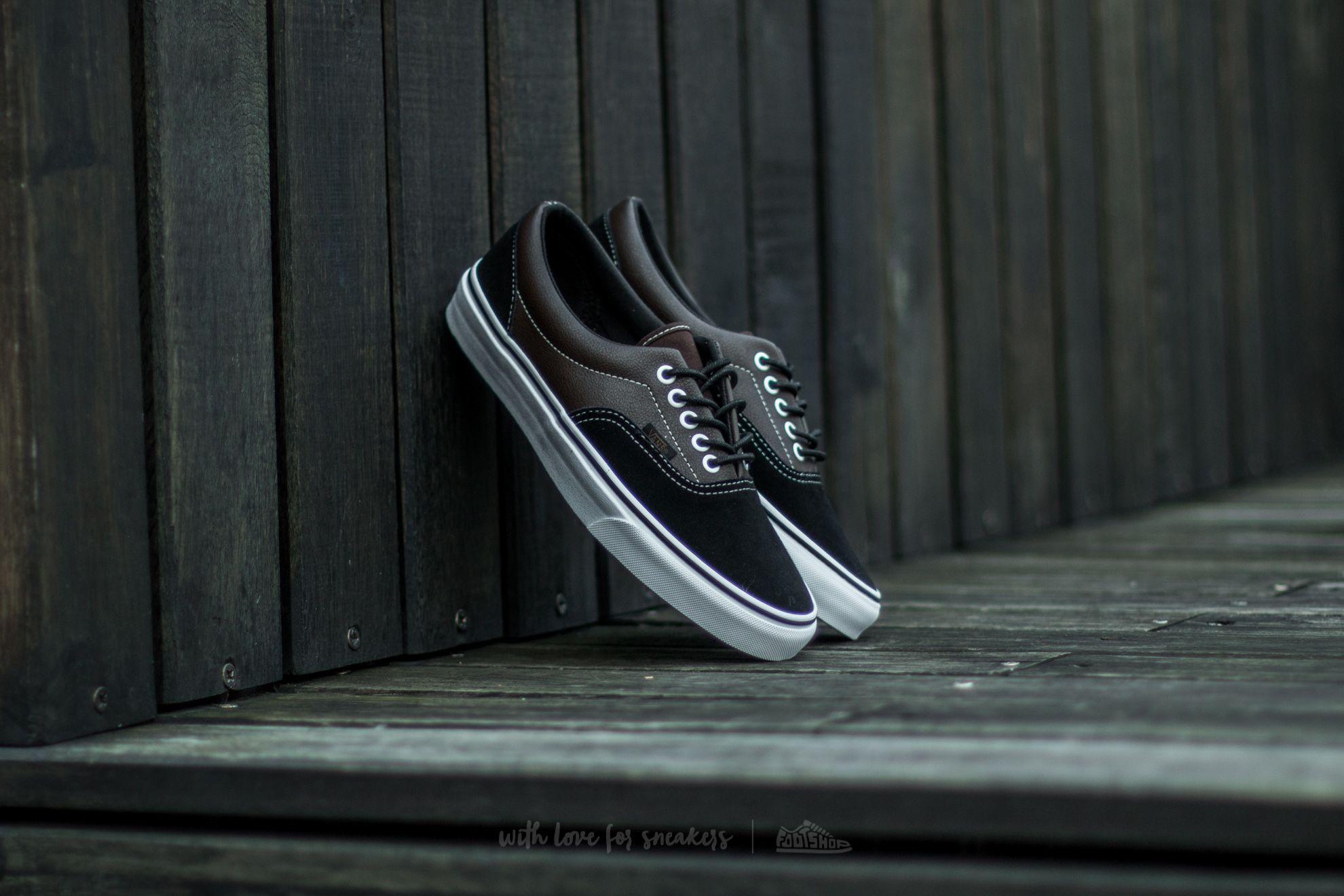 Vans Era (Suede & Leather) Demitasse/ Black   Footshop