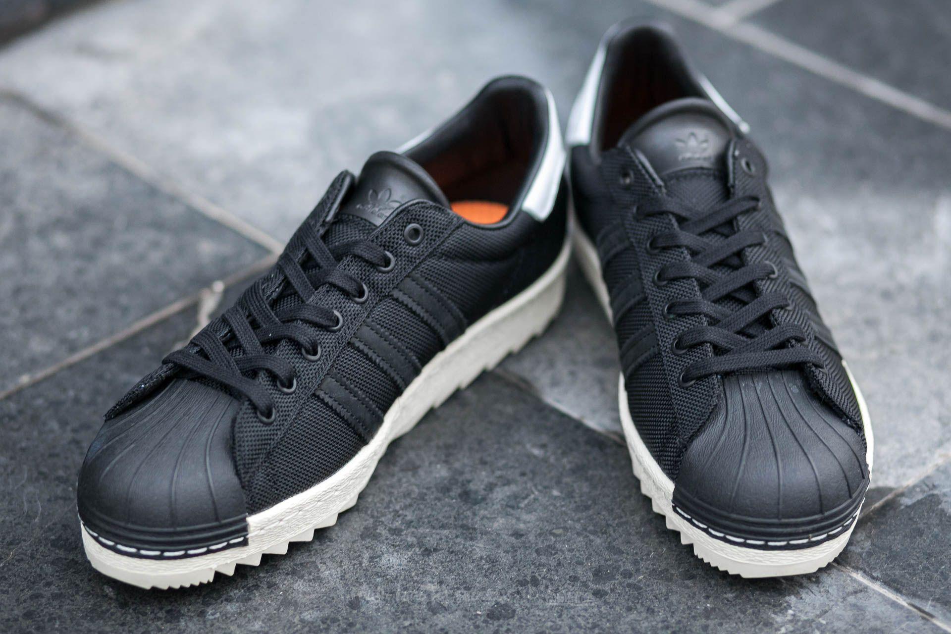 Adidas superstar 80s cordura sneakers blackwhite