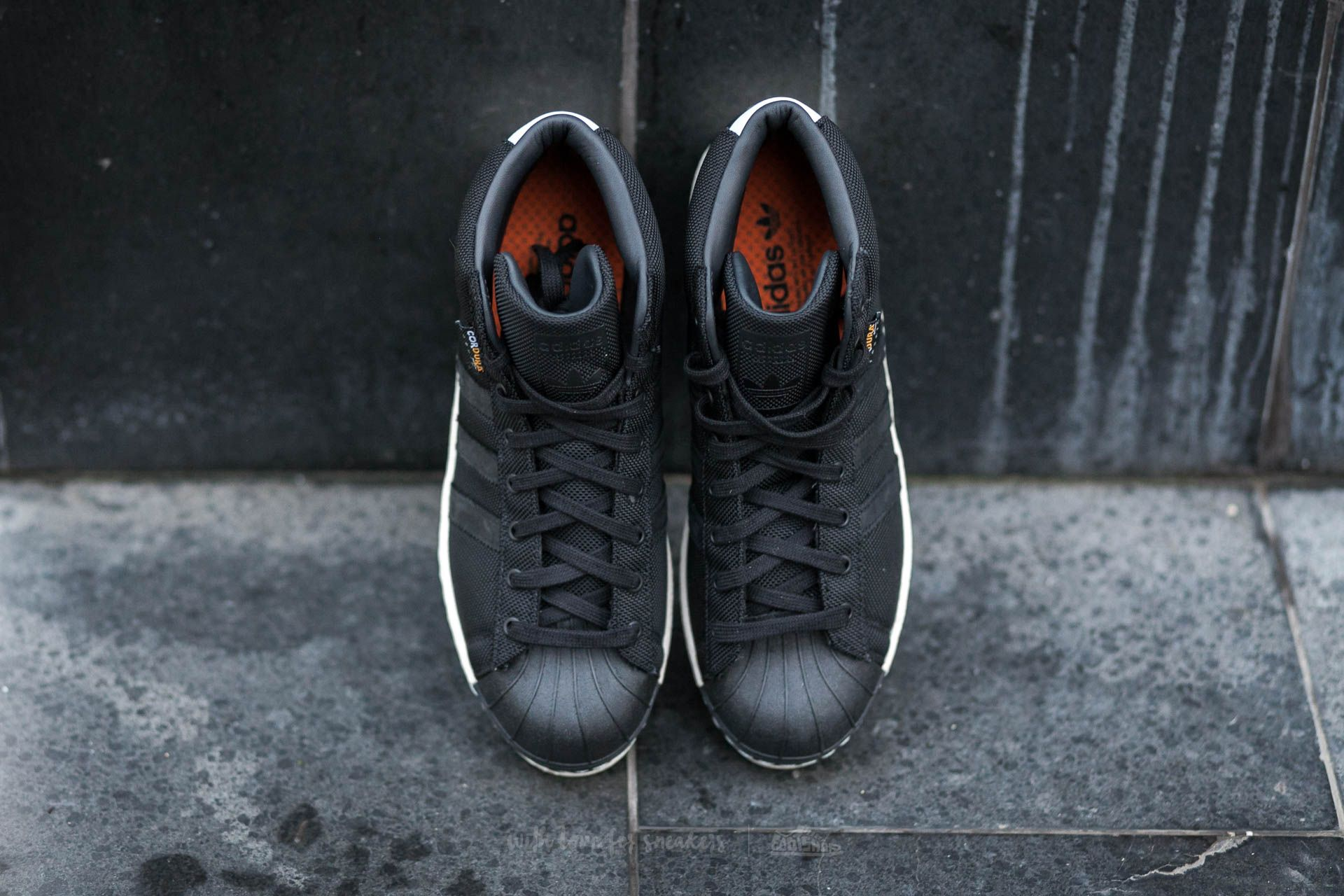 adidas Pro Model 80s Cordura Ftw White Core Black Unity Orange   Footshop