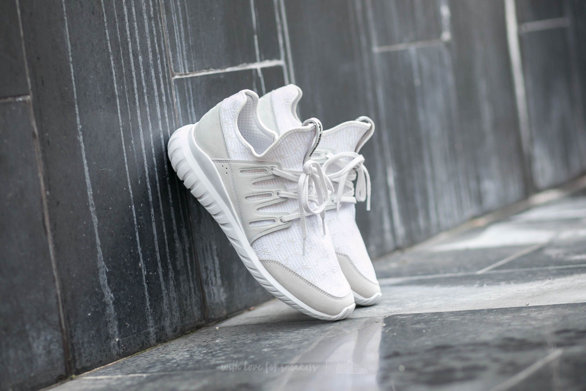 2d8fed8be1a2 adidas Tubular Radial Primeknit Vintage White  Ftw White  Core Black ...