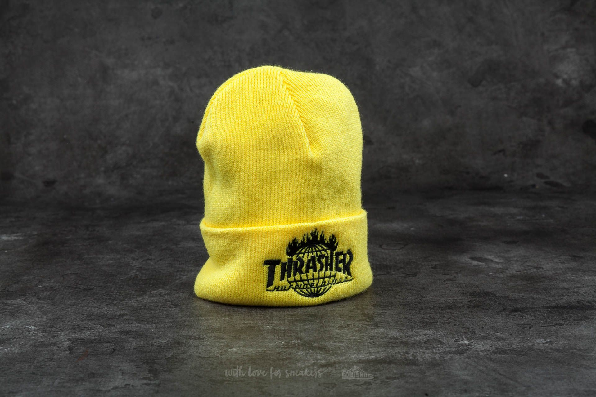 HUF x Thrasher Tour De Stoops Beanie Yellow  3fd0ba5fe50