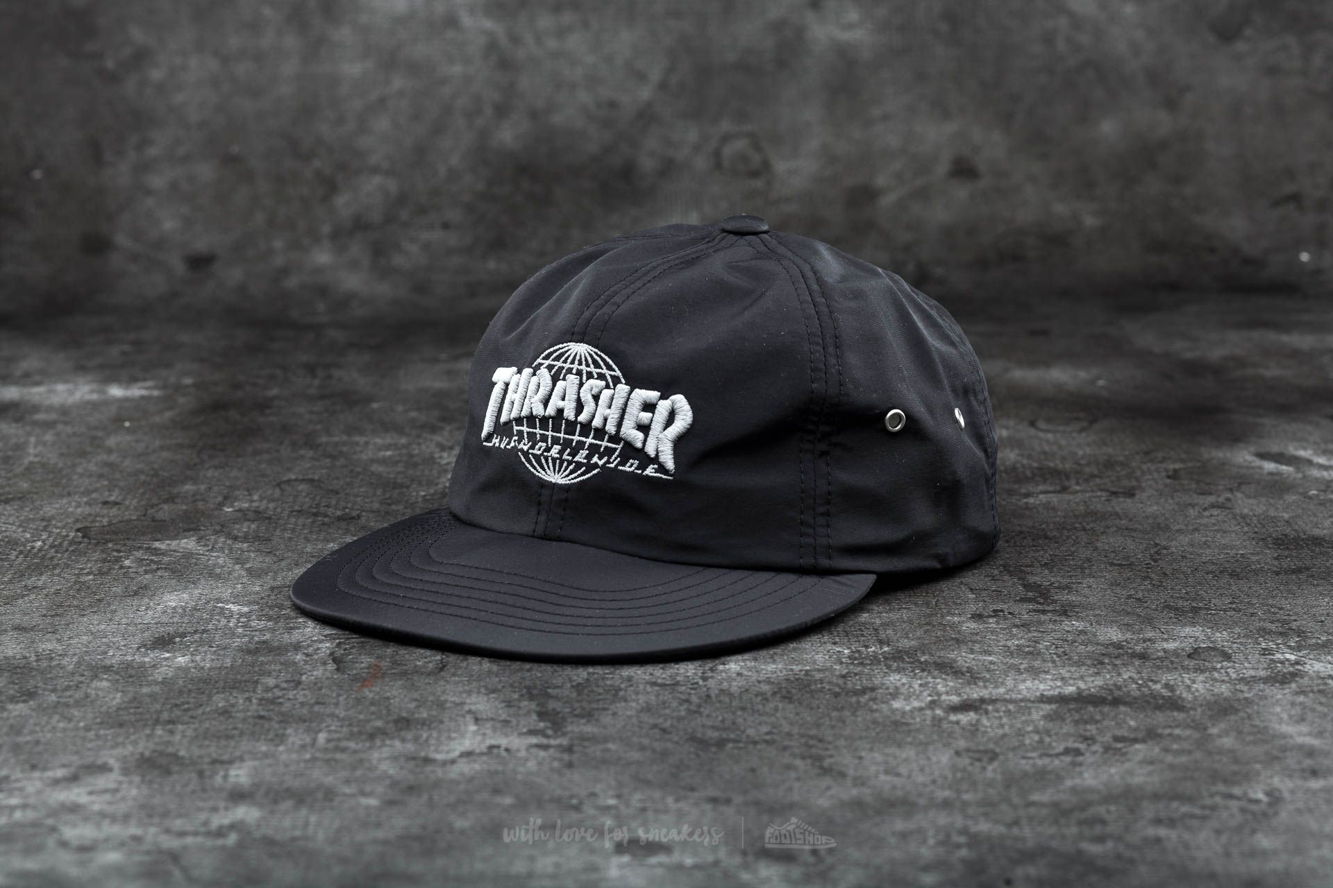 HUF x Thrasher Tour De Stoops 6 Panel Cap Black  6912218d7d2e