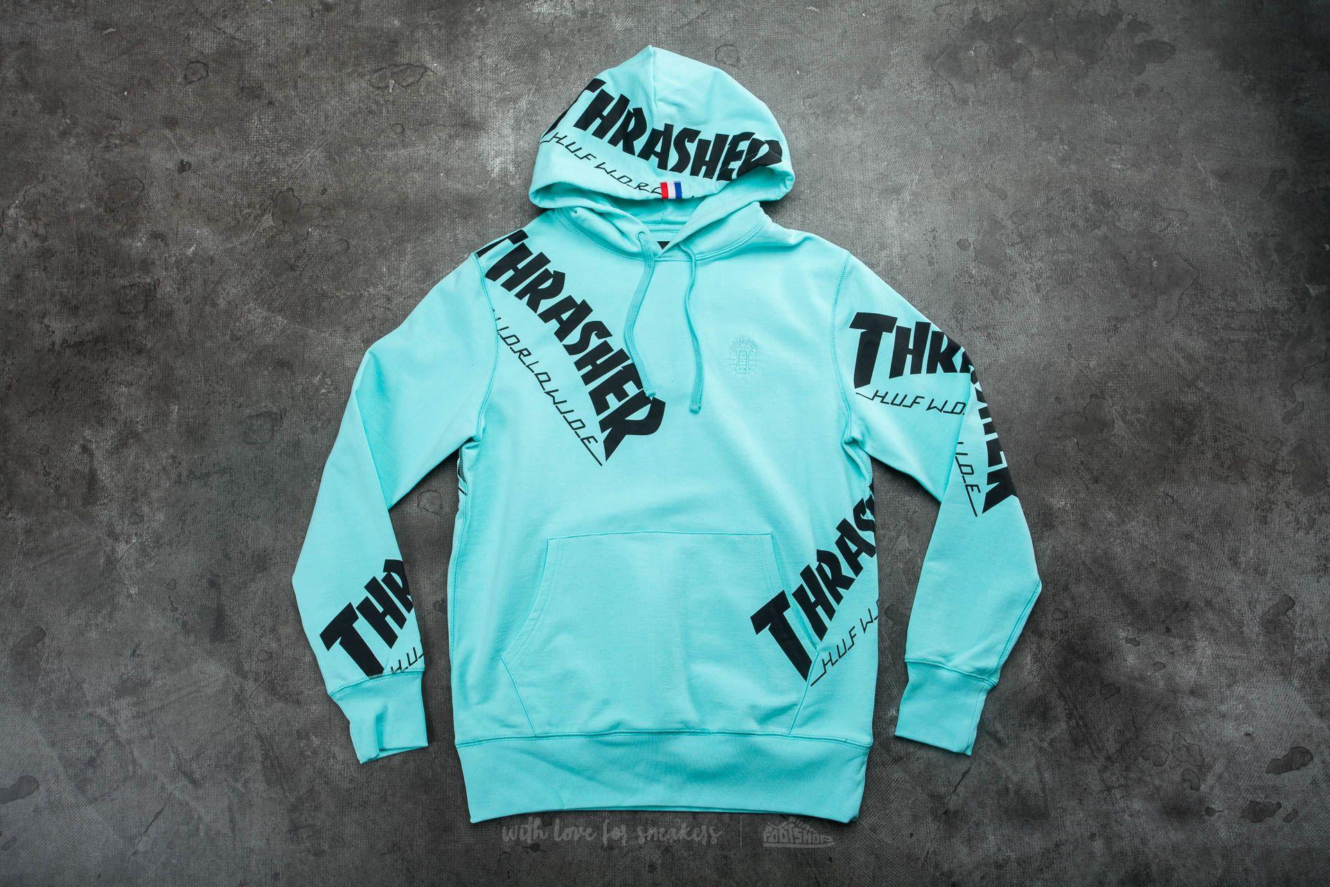 915618cd5e28 HUF x Thrasher Tour De Stoops Allover Hood Mint