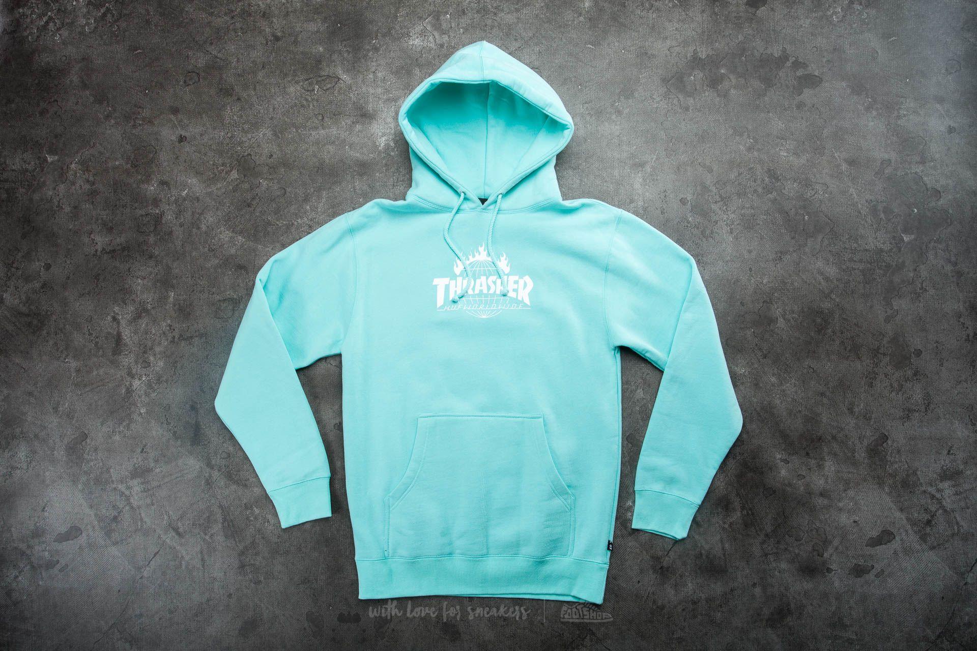 33fc8b908bd5 HUF x Thrasher Tour De Stoops Hooded Sweatshirt Mint