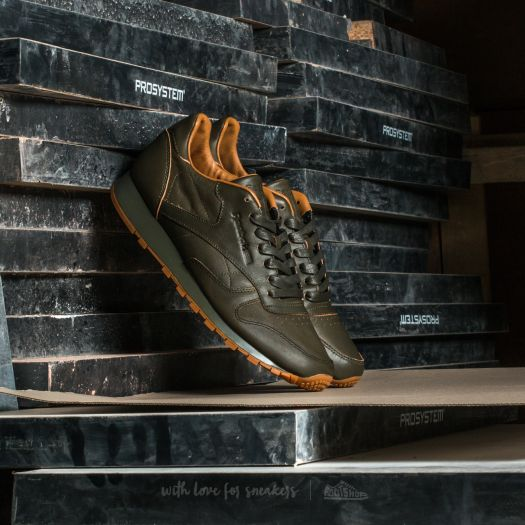 wholesale online official site get online Reebok Classic Leather Lux Kendrick Olive Night-Gum ...