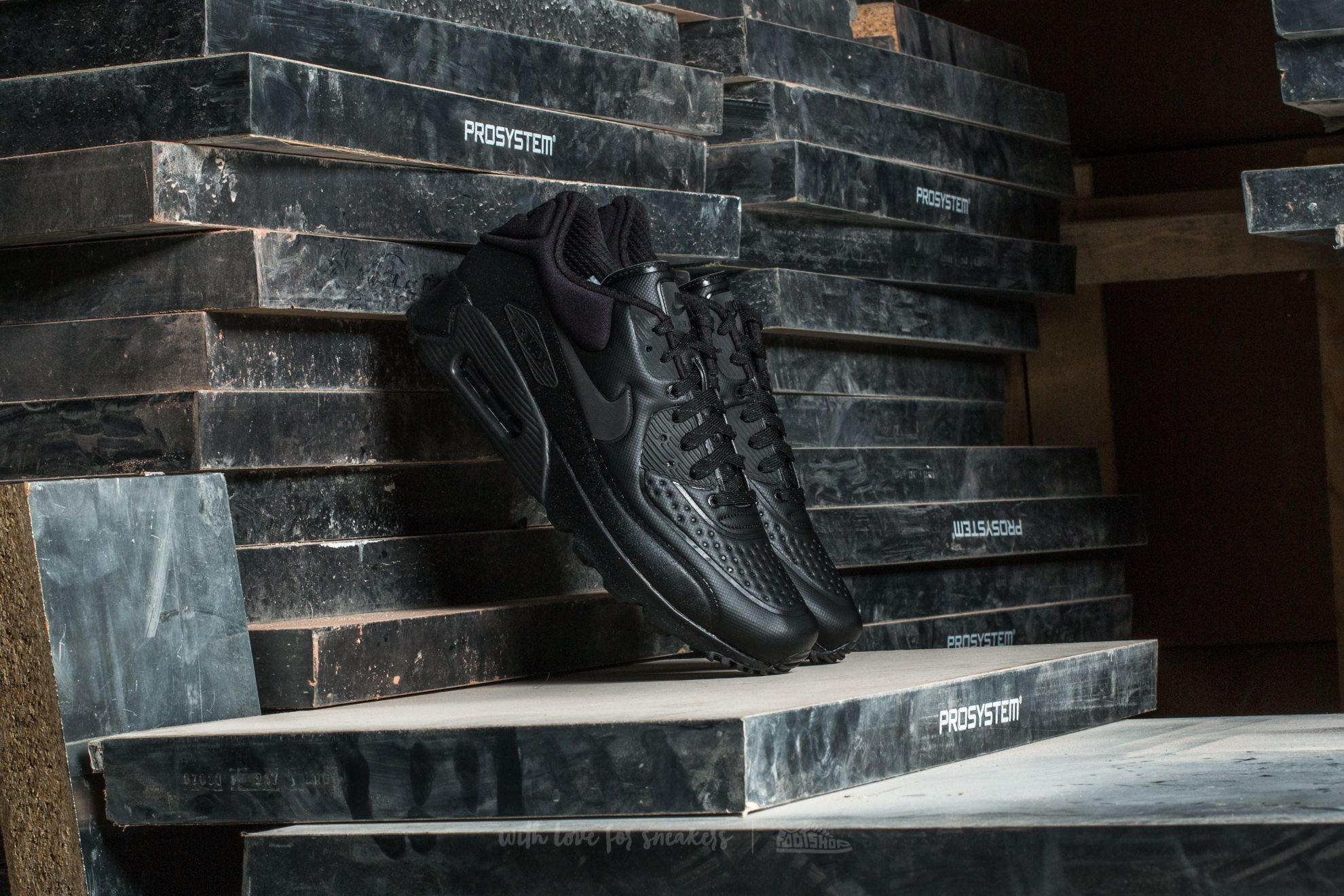 Nike Air Max 90 Ultra SE Premium Black Metallic Hematite Black | Footshop