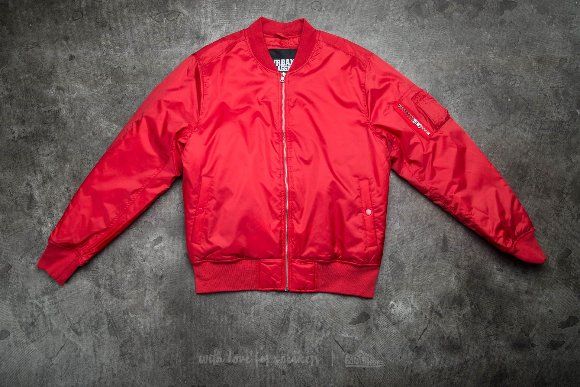 Super Urban Classics Basic Bomber Jacket Fire Red | Footshop @KY78