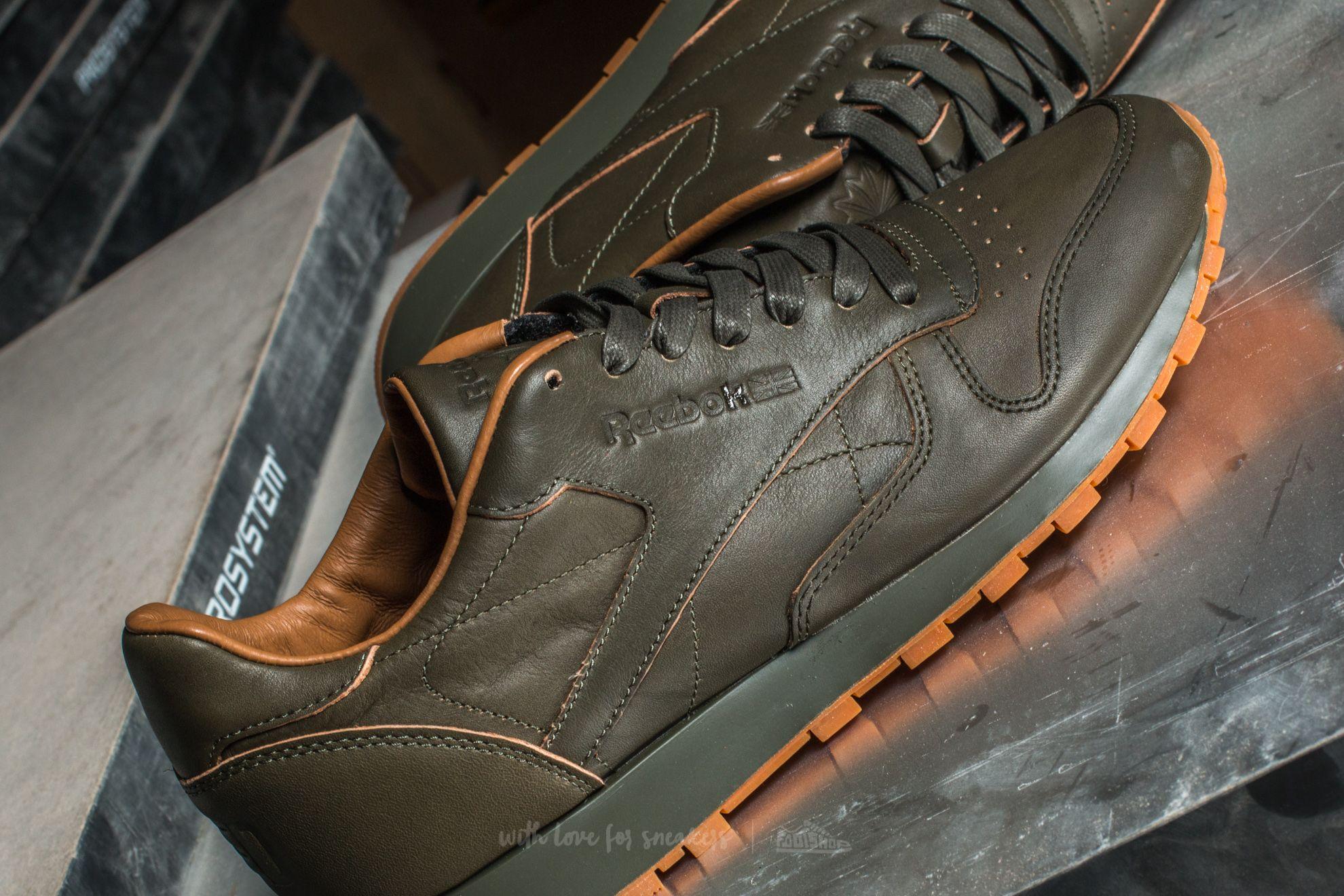 0b34b27ad30 Reebok Classics Leather Kendrick Junior Olive Night  Gum au meilleur prix  51 € Achetez sur