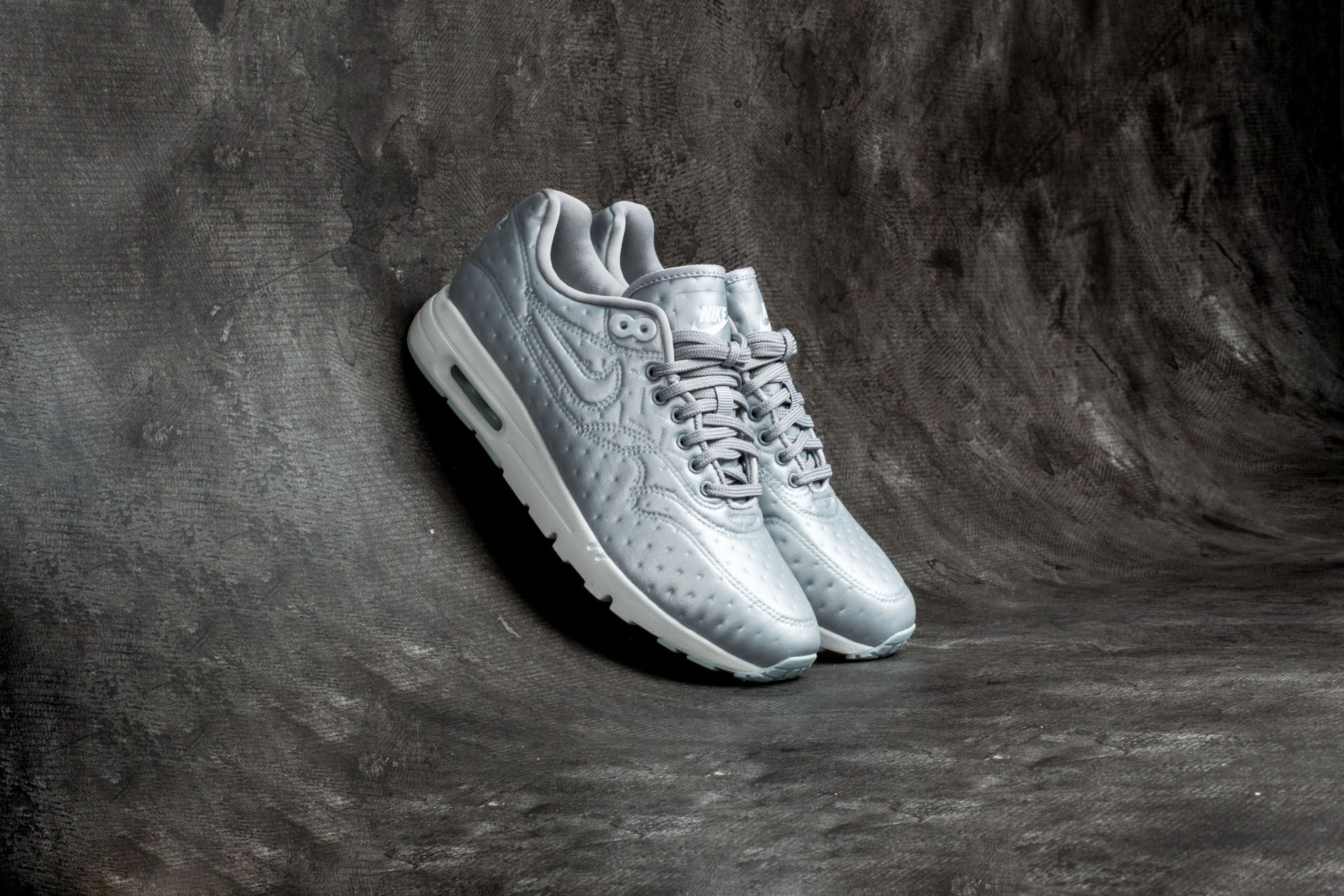 Nike W Air Max 1 Ultra Premium Jacquard Metallic Silver Matte Silver | Footshop