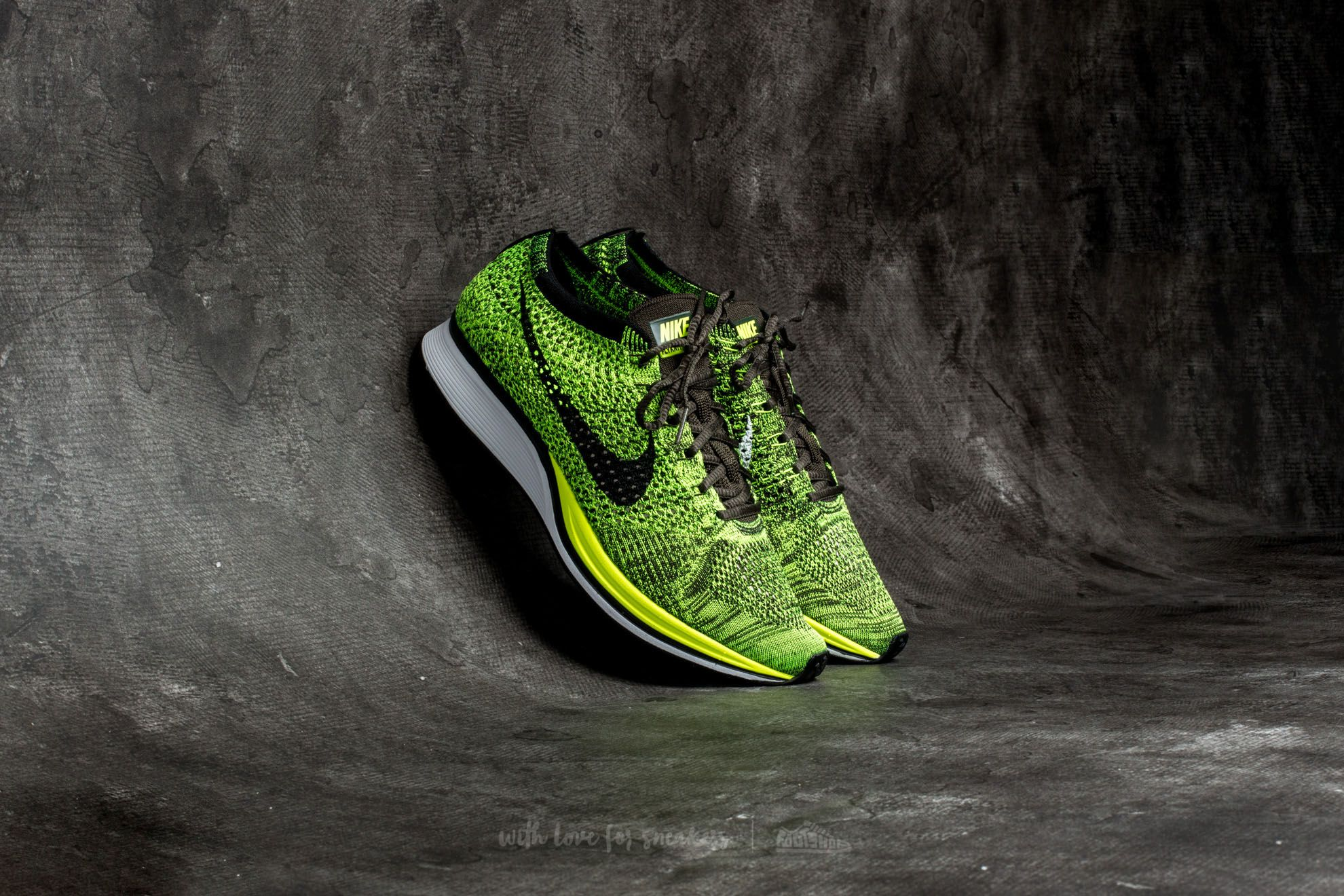 huge sale 9fbc2 372df Nike Flyknit Racer. Volt  Black-Sequoia